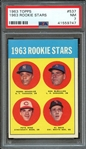 1963 TOPPS 537 PETE ROSE RC PSA NM 7