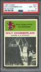 1961 FLEER 47 WILT CHAMBERLAIN IN ACTION PSA NM-MT 8