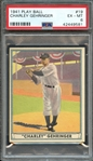 1941 PLAY BALL 19 CHARLEY GEHRINGER PSA EX-MT 6