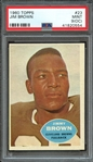 1960 TOPPS 23 JIM BROWN PSA MINT 9 (OC)