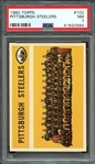 1960 TOPPS 102 PITTSBURGH STEELERS PSA NM 7