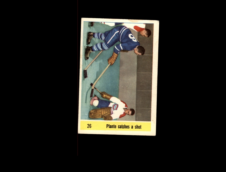 1958 Parkhurst Jacques Plante Catches Shot VG-EX #D848543