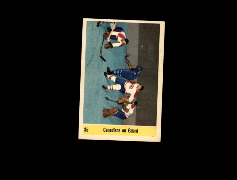 1958 Parkhurst 35 Canadiens on Guard Plante EX-MT #D859855