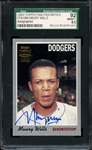 2003 TOPPS FAN FAVORITES MAURY WILLS SIGNED SGC NM/MT+ 92 / 8.5