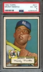 1952 TOPPS 311 MICKEY MANTLE PSA EX-MT 6