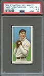 1909-11 T206 SWEET CAPORAL 350-460/25 CHRISTY MATHEWSON DARK CAP PSA VG-EX+ 4.5