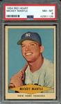 1954 RED HEART MICKEY MANTLE PSA NM-MT 8