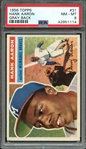 1956 TOPPS 31 HANK AARON GRAY BACK PSA NM-MT 8