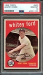 1959 TOPPS 430 WHITEY FORD PSA GEM MT 10