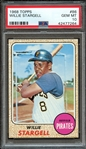 1968 TOPPS 86 WILLIE STARGELL PSA GEM MT 10