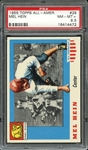 1955 TOPPS ALL-AMER. 28 MEL HEIN PSA NM-MT+ 8.5