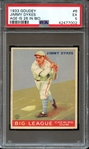 1933 GOUDEY 6 JIMMY DYKES AGE IS 26 IN BIO PSA EX 5