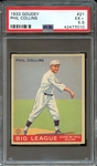 1933 GOUDEY 21 PHIL COLLINS PSA EX+ 5.5