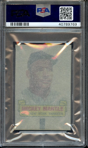 1966 TOPPS RUB-OFFS MICKEY MANTLE PSA GEM MT 10