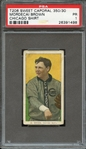 1909-11 T206 SWEET CAPORAL 350/30 MORDECAI BROWN CHICAGO SHIRT PSA PR 1