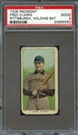 1909-11 T206 PIEDMONT FRED CLARKE PITTSBURGH, HOLDING BAT PSA GOOD 2