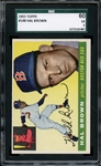 1955 TOPPS 148 HAL BROWN SGC EX 60 / 5
