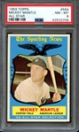 1959 TOPPS 564 MICKEY MANTLE ALL STAR PSA NM-MT 8
