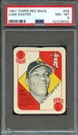 1951 TOPPS RED BACK 26 LUKE EASTER PSA NM-MT 8