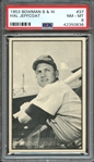 1953 BOWMAN B & W 37 HAL JEFFCOAT PSA NM-MT 8