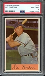 1954 BOWMAN 11 SID GORDON PSA NM-MT 8