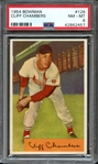 1954 BOWMAN 126 CLIFF CHAMBERS PSA NM-MT 8