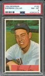 1954 BOWMAN 182 SHERMAN LOLLAR PSA NM-MT 8