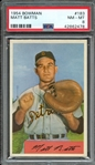 1954 BOWMAN 183 MATT BATTS PSA NM-MT 8