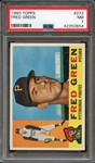 1960 TOPPS 272 FRED GREEN PSA NM 7
