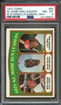 1972 TOPPS 89 NL HOME RUN LEADERS W.STARGELL/H.AARON/L.MAY PSA NM-MT 8