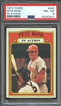 1972 TOPPS 560 PETE ROSE IN ACTION PSA NM-MT 8