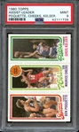 1980 TOPPS ASSIST LEADER POQUETTE, CHEEKS, KELSER PSA MINT 9