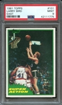 1981 TOPPS 101 LARRY BIRD EAST PSA MINT 9