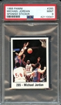 1988 PANINI SPANISH STICKER 285 MICHAEL JORDAN SPANISH STICKER PSA MINT 9