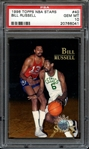 1996 TOPPS NBA STARS 40 BILL RUSSELL PSA GEM MT 10