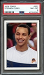 2009 TOPPS 321 STEPHEN CURRY RC PSA NM-MT 8