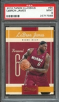 2010 PANINI CLASSICS 95 LeBRON JAMES PSA MINT 9