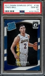 2017 PANINI DONRUSS OPTIC 199 LONZO BALL PSA GEM MT 10