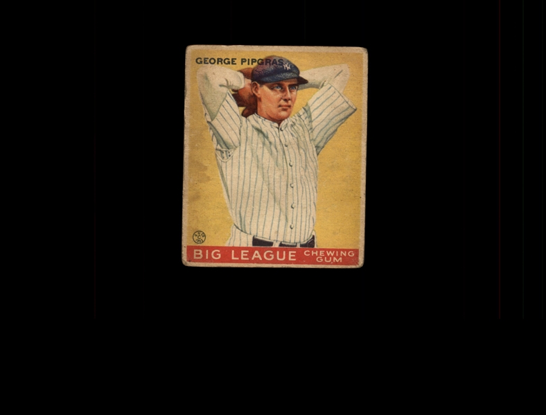 1933 Goudey 12 George Pipgras RC VG #D937901