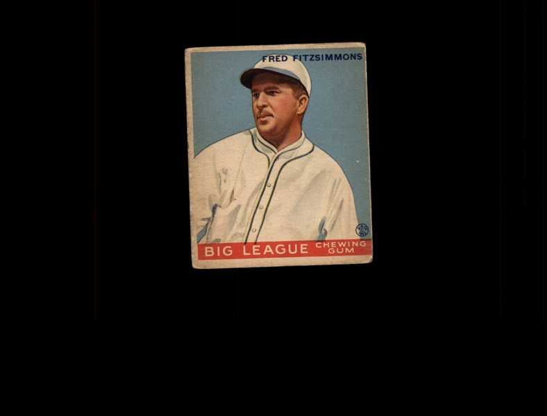 1933 Goudey 130 Fred Fitzsimmons POR RC VG #D937975