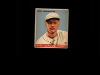 1933 Goudey 131 Fred Frankhouse RC VG #D937977