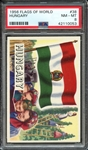 1956 FLAGS OF WORLD 38 HUNGARY PSA NM-MT 8