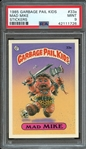 1985 GARBAGE PAIL KIDS STICKERS 33a MAD MIKE STICKERS PSA MINT 9