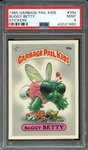 1985 GARBAGE PAIL KIDS STICKERS 39a BUGGY BETTY STICKERS PSA MINT 9