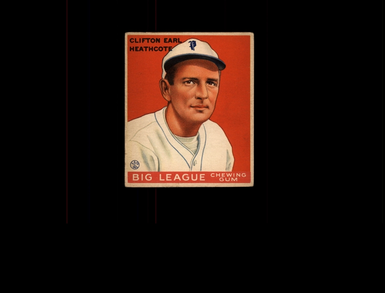 1933 Goudey 115 Cliff Heathcote RC VG-EX #D939761