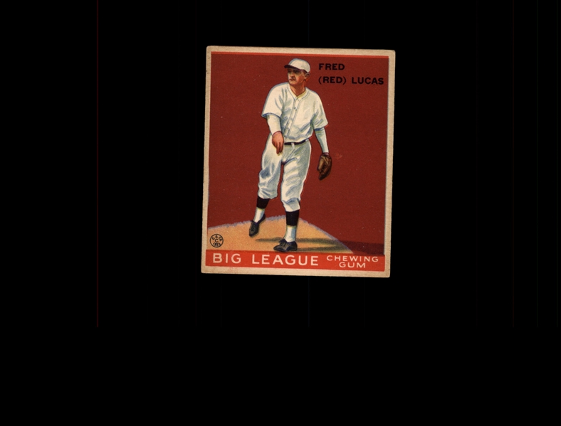 1933 Goudey 137 Red Lucas RC EX #D941553