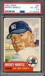 1953 TOPPS 82 MICKEY MANTLE PSA VG-EX+ 4.5
