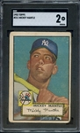 1952 TOPPS 311 MICKEY MANTLE SGC GOOD 2