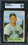 1954 BOWMAN 65 MICKEY MANTLE SGC VG 3