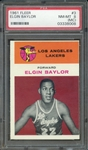 1961 FLEER 3 ELGIN BAYLOR PSA NM-MT 8 (MC)